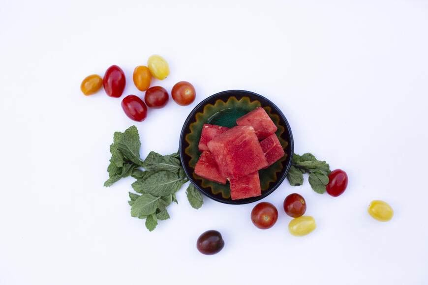 End of Summer Salad with Watermelon and Cherry Tomatoes