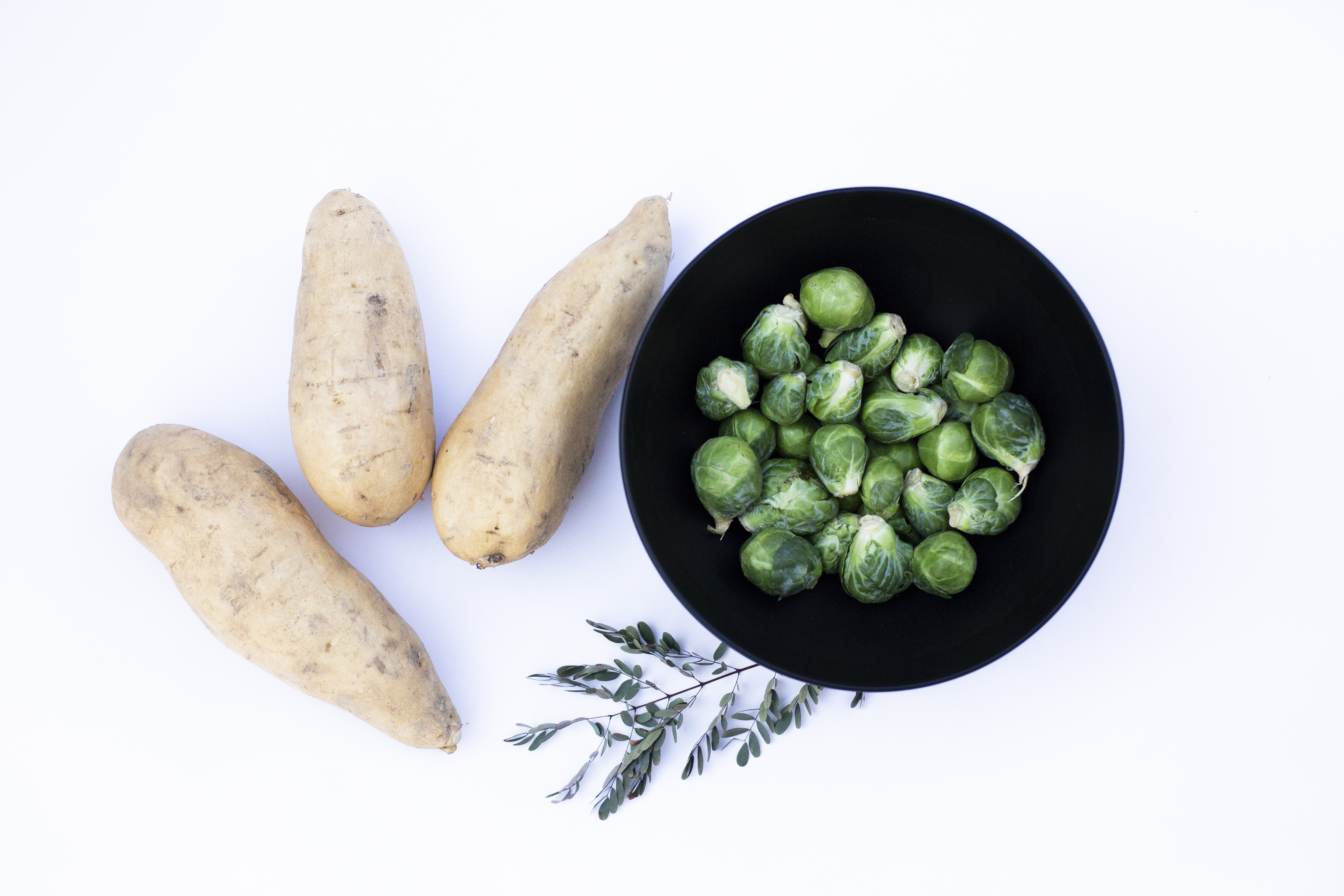 Brussels Sprouts and Sweet Potato